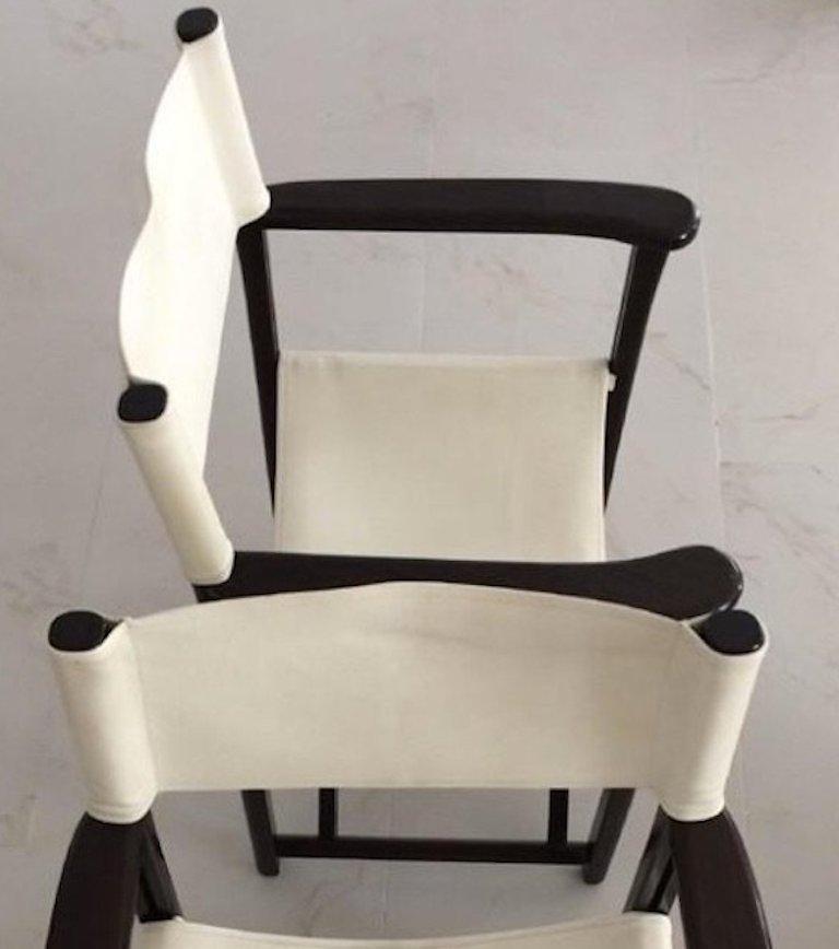 Italian Two Armani Casa Director's Chair Dustin Wood Version For Sale