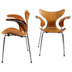 Two Armchairs Designed Arne Jacobsen for Fritz Hansen. Model 3208, Denmark 1970