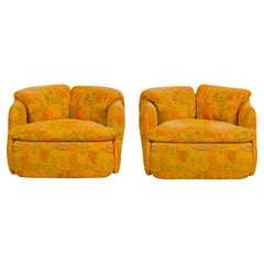 """Two Armchairs Part of the """"Confidential"""" Living Room Set, 1970s"""