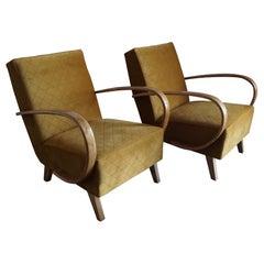 Two Art Deco J.Halabala Armchair from 1940