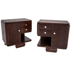 Two Art Deco Bedside Tables