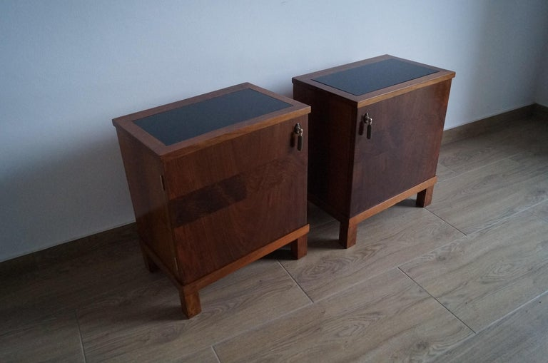 Two Art Deco Bedside Tables from 1950 For Sale 6