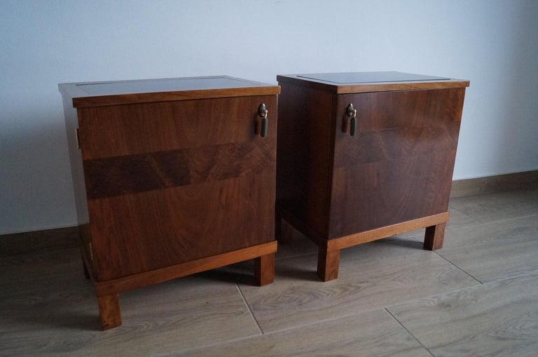 Two Art Deco Bedside Tables from 1950 For Sale 7