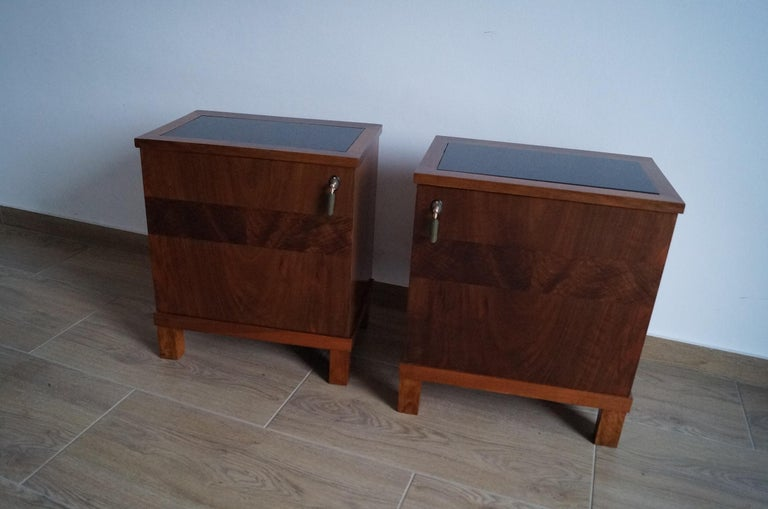 Two Art Deco Bedside Tables from 1950 For Sale 8