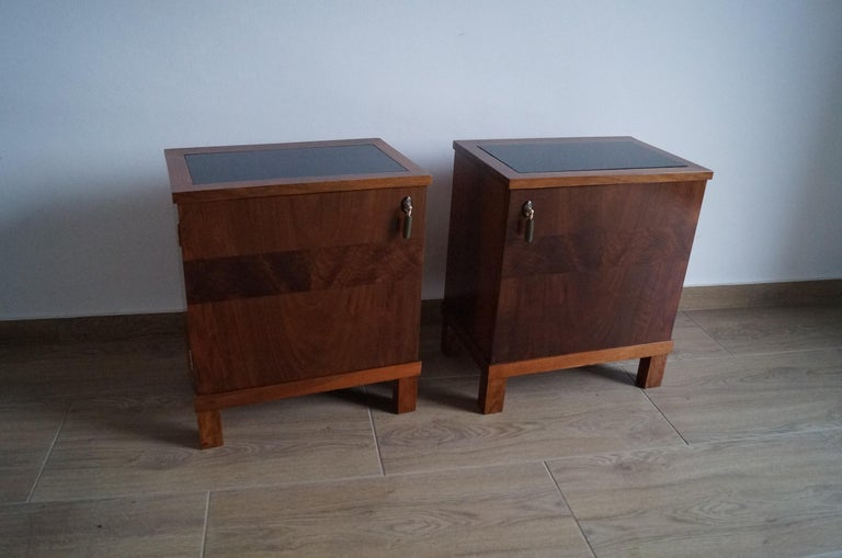 Polish Two Art Deco Bedside Tables from 1950 For Sale