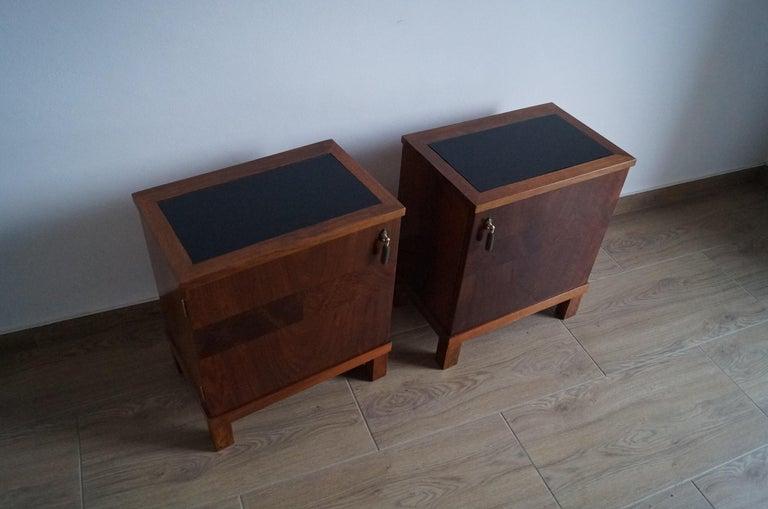 Two Art Deco Bedside Tables from 1950 In Good Condition For Sale In Kraków, Małopolska
