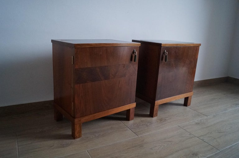 Mid-20th Century Two Art Deco Bedside Tables from 1950 For Sale