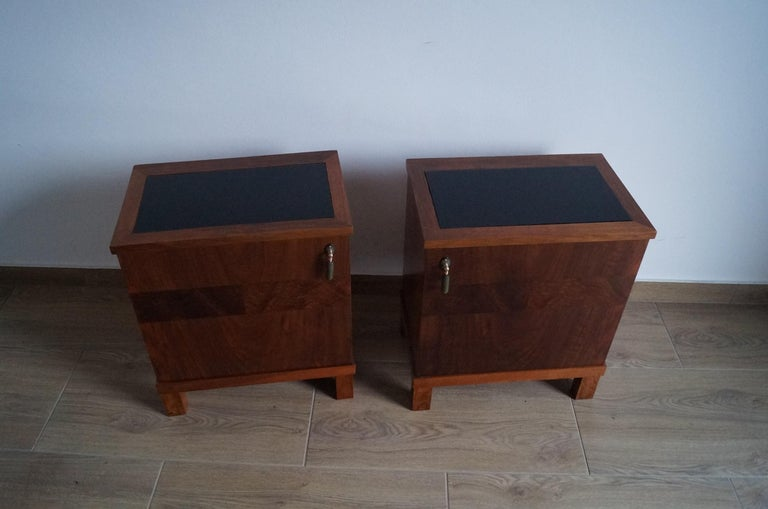 Two Art Deco Bedside Tables from 1950 For Sale 1