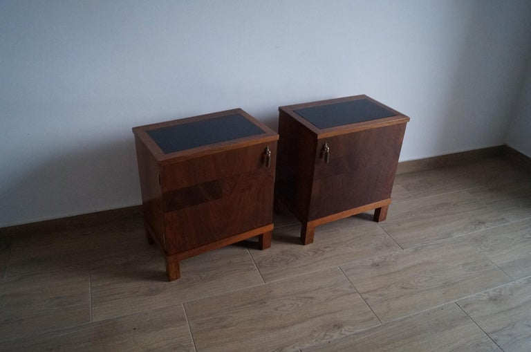Two Art Deco Bedside Tables from 1950 For Sale 2