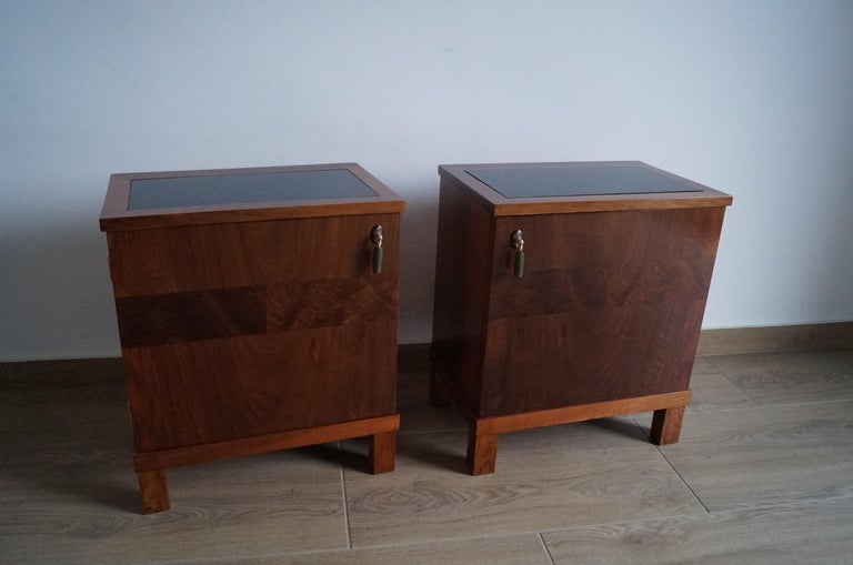 Two Art Deco Bedside Tables from 1950 For Sale 3