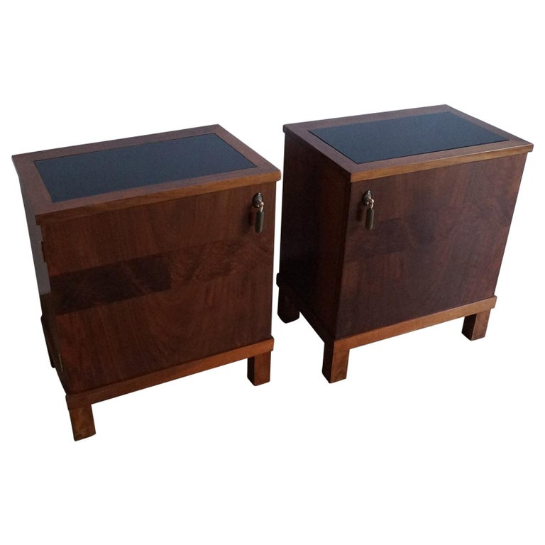 Two Art Deco Bedside Tables from 1950 For Sale