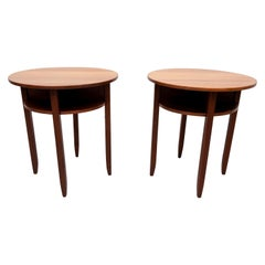 Two Art Deco High Pedestal Side Tables Holland