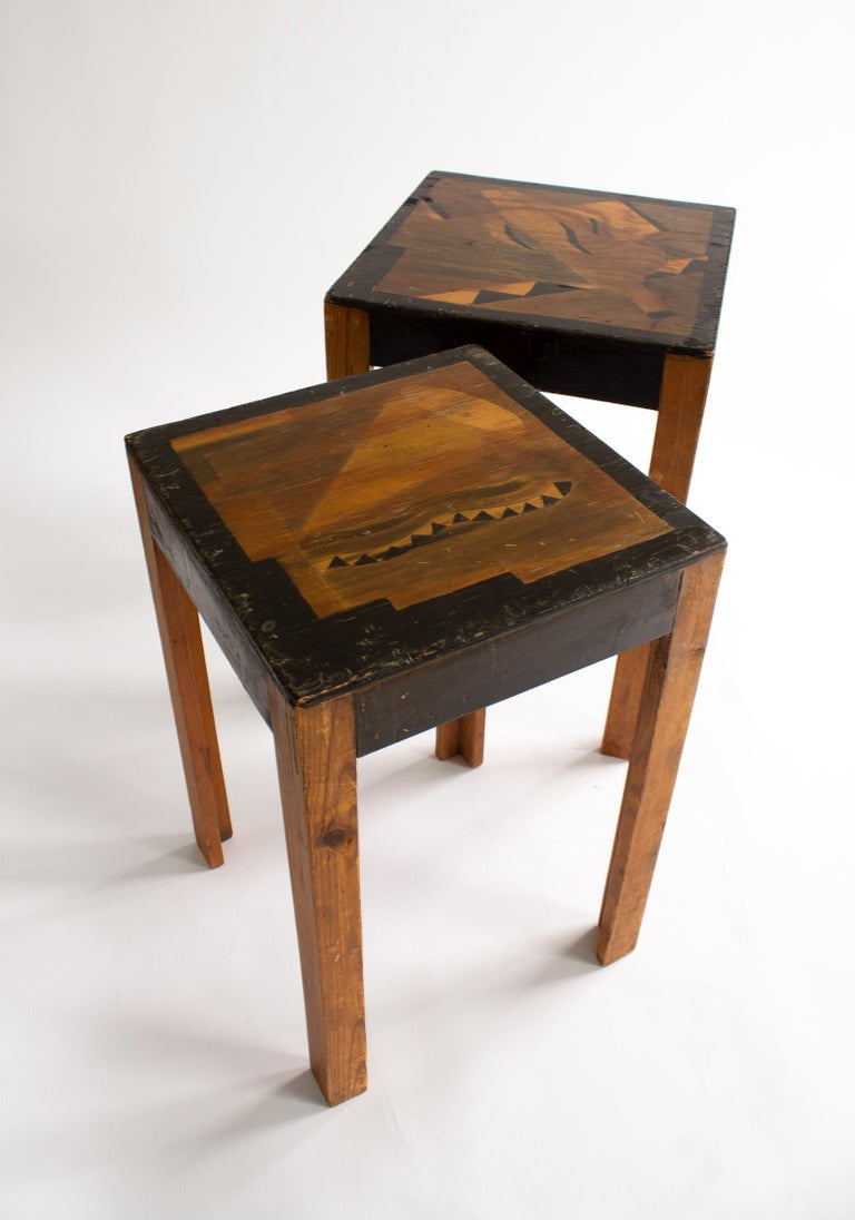 Two Art Deco Nesting Tables Made of Unknown Swedish Artist in 1930s-1940s For Sale 1