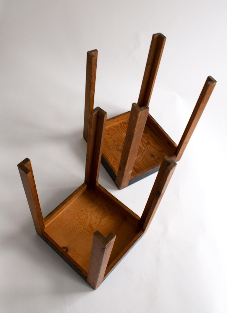 Two Art Deco Nesting Tables Made of Unknown Swedish Artist in 1930s-1940s For Sale 2