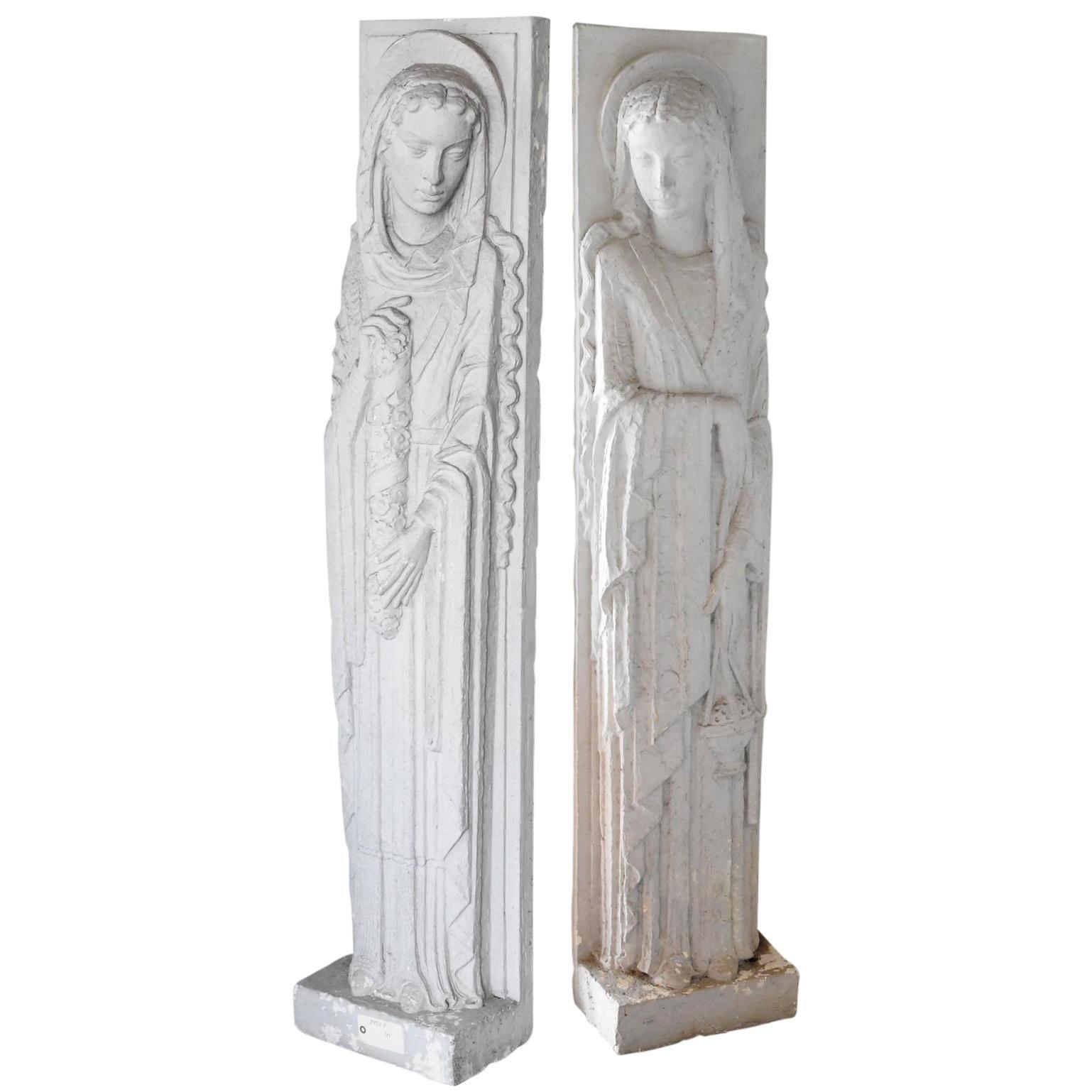 Two Art Deco Plaster Sculptures, circa 1930