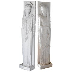 Two Art Deco Plaster Sculptures, circa 1930
