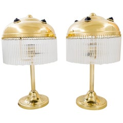 Two Art Deco Table Lamps, Vienna, circa 1920s