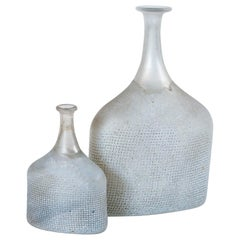 Two Art Glass Vases, Bertil Valien, Kosta Boda, Sweden, circa 1970