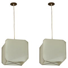 Two Bali Suspension Lights by Bruno Munari for Danese Milano