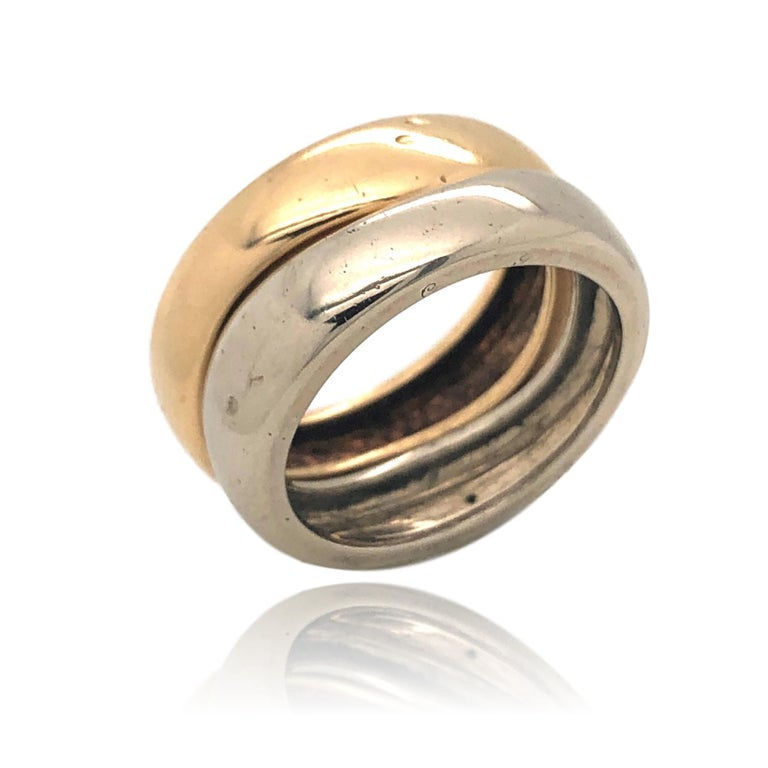 Cartier France 1981 Two Band and Two Gold Ring For Sale 1