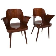 Two Bentwood Armchairs by Oswald Haerdtl, 1960s