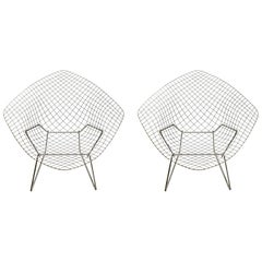 Two Bertoia Knoll Diamond Chairs
