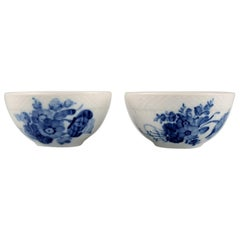 Two Blue Flower Braided Bowls, 1960s, Royal Copenhagen