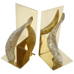 Two Bookends by Carl Auböck Brass Design Vienna, Austria