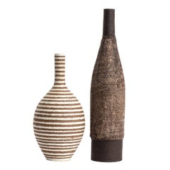 Two Bottles by Ceramiche Milesi