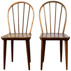 Two Bow-Back Windsor Chairs by E.E. Meyer for Binnehuis, South Africa