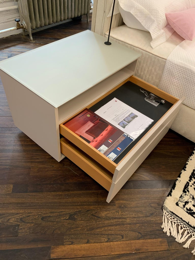 Pair of M2L Brand Cabinetry Nightstands with Foster+Partners Flo lamps For Sale 3