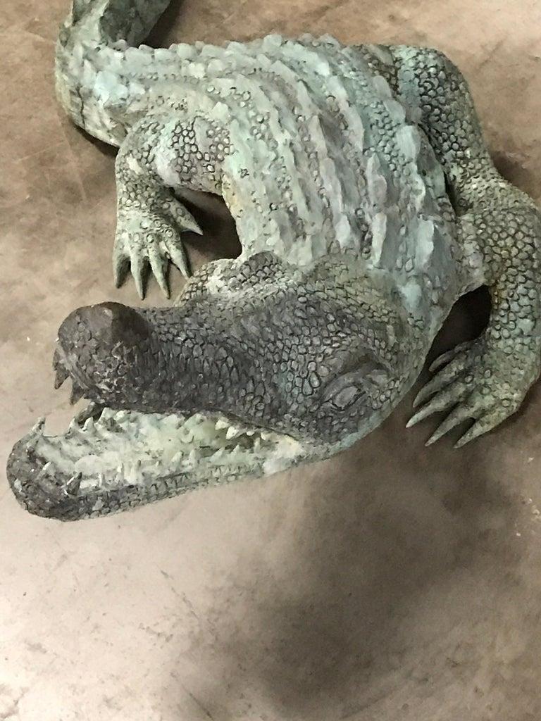 Two Bronze Sculptures of Alligators For Sale 11