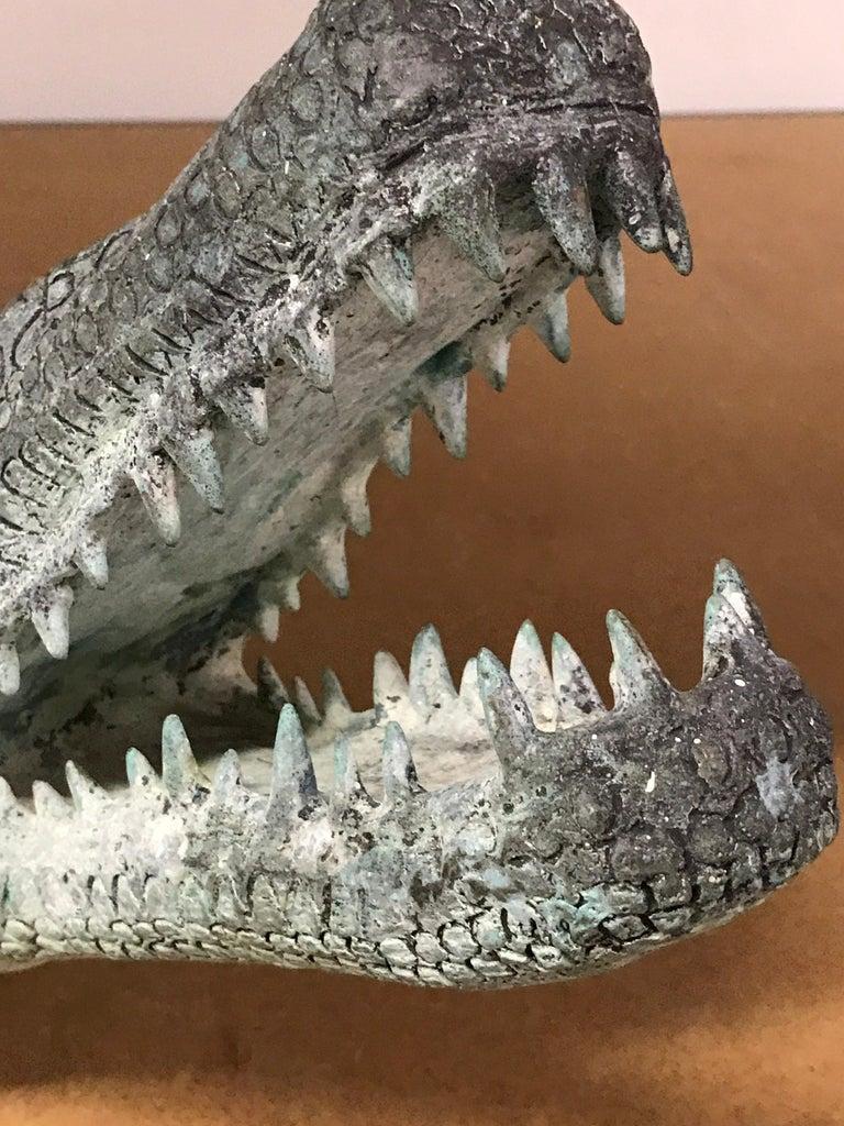 Two Bronze Sculptures of Alligators For Sale 14