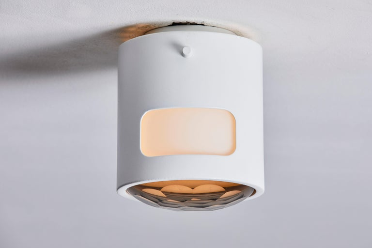 Powder-Coated Two Ceiling Lights For Sale
