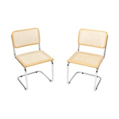 Two Cesca S32 Chairs Marcel Breuer