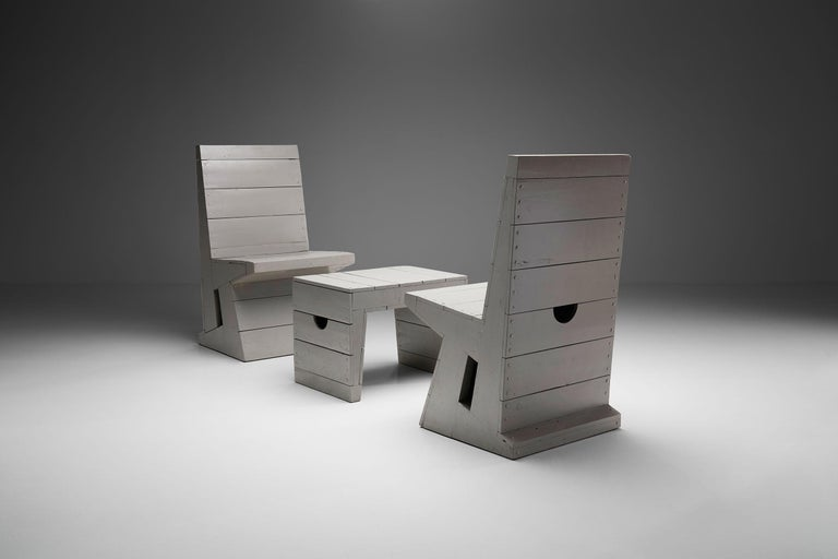 Dutch Two Chairs and Stool by Dom Hans van der Laan, Netherlands, 1960s For Sale