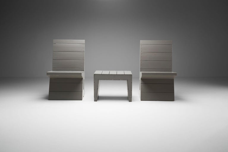 Mid-20th Century Two Chairs and Stool by Dom Hans van der Laan, Netherlands, 1960s For Sale