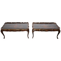 Two Chinese Lacquered Coffee Tables