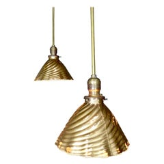 Two circa 1930 Mercury/X-Ray Industrial Pendant Lights
