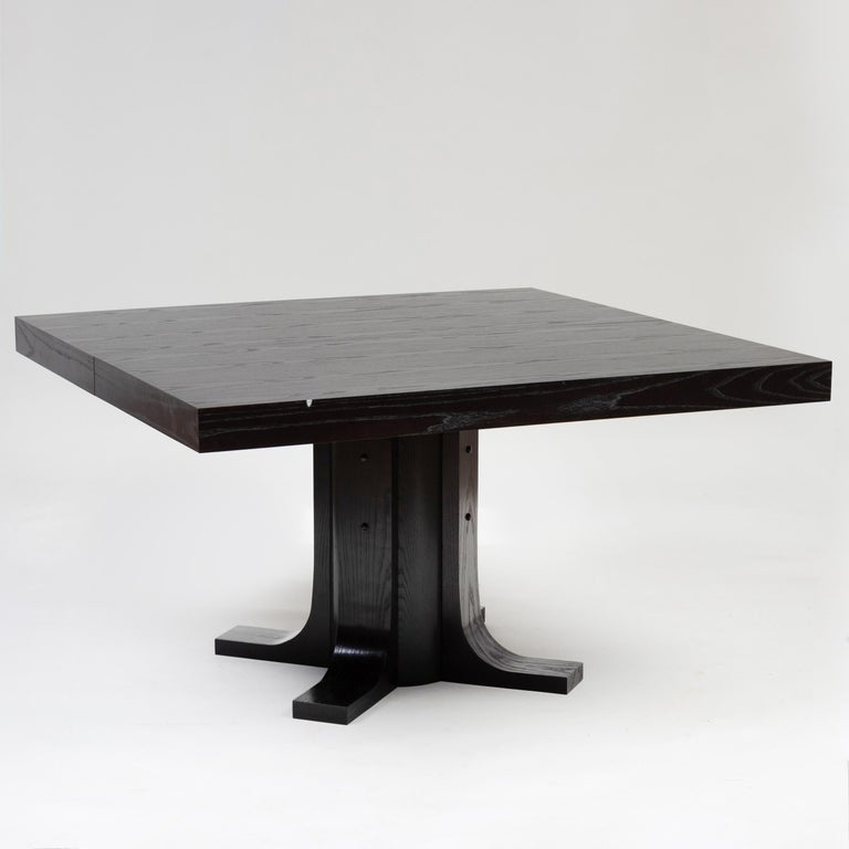 Two contemporary ebonized ash dining tables  Each 30 x 6 ft. 6 in. x 4 ft. 6 in.