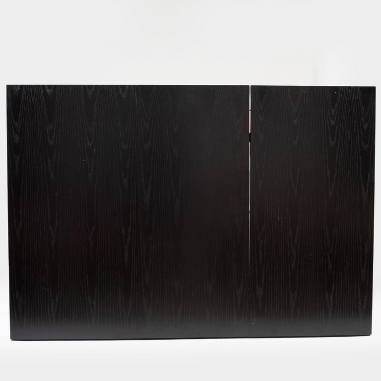 Two Contemporary Ebonized Ash Dining Tables For Sale 1