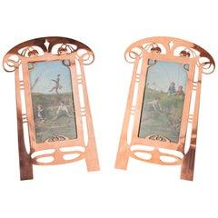 Two Copper Picture Frames, circa 1909s