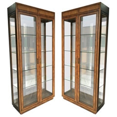 Two Curio Display Cabinets by Henredon