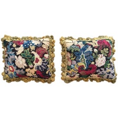 Two Cushions with 18th Century French Needlework