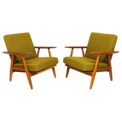 Two Danish 1960s GE-240 Cigar Chairs by Hans Wegner for GETAMA