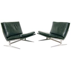 Two Danish BO-561 Chairs in Leather by Preben Fabricius & Jorgen Kastholm
