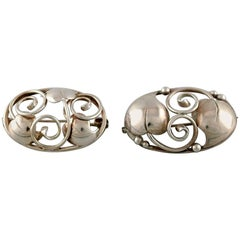 Two Danish Brooches in Silver, 1930s