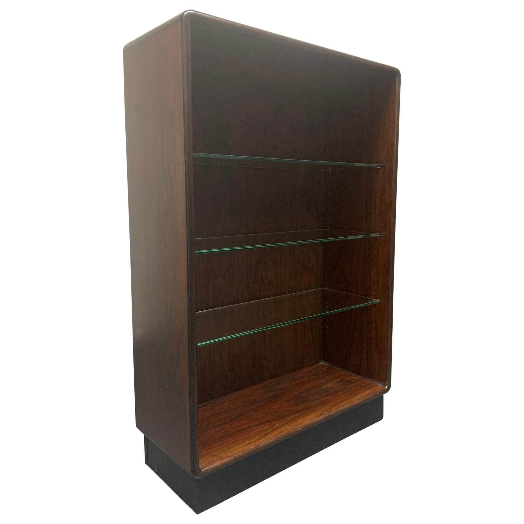 Two Danish Modern Rosewood Bookcases