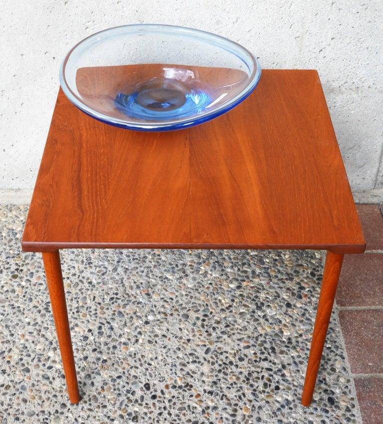 Mid-Century Modern Two Danish Modern Solid Teak 1960s Square Side Table by Hvidt & Mølgaard-Nielsen For Sale