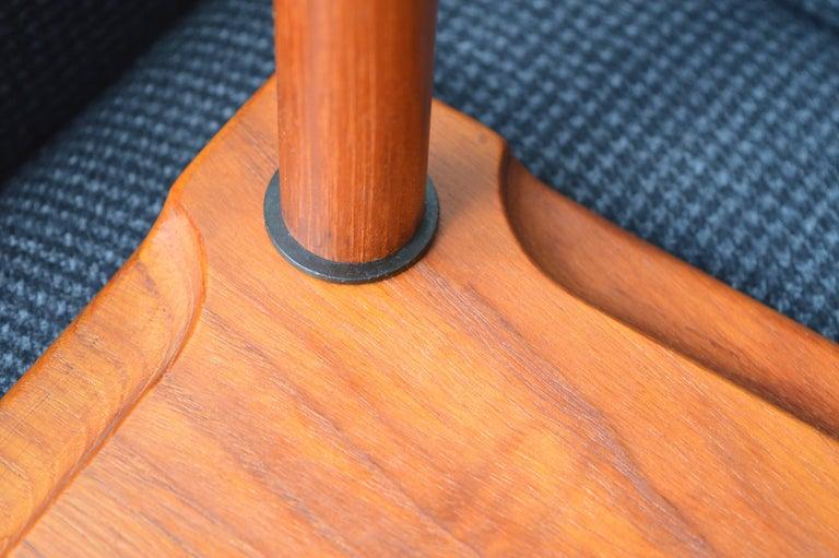 Mid-20th Century Two Danish Modern Solid Teak 1960s Square Side Table by Hvidt & Mølgaard-Nielsen For Sale